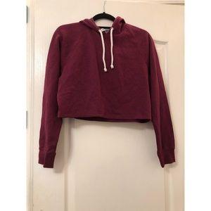 Crop top hoodie